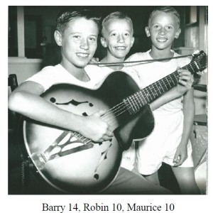 Barry, Robin and Maurice Gibbs