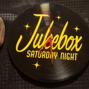 Jukebox Saturday Night Record Clock